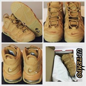 Nike Air More Uptempo Tan Clr Size 9